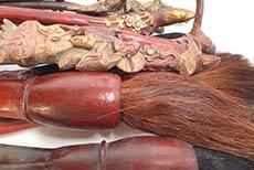 Antiguos cepillos de madera chinos de la dinastía Qing